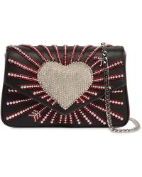Les Petits Joueurs - Ivy Heart Cupid Embellished Leather Bag - Lyst