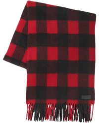 DSquared² | Check Wool & Alpaca Blend Scarf | Lyst