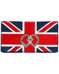DSquared² - Dd British Flag Suede Clutch - Lyst