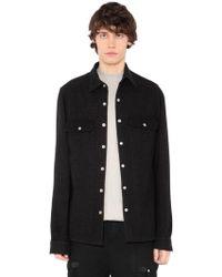 Rick Owens - Heavy Wool & Linen Blend Shirt Jacket - Lyst