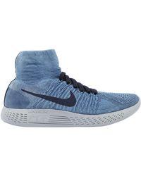 lyst nike air zoom laboratorio tutti flyknit uomini in blu, scarpe da corsa