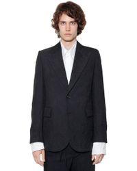 Ann Demeulemeester | Wrinkled Effect Mixed Virgin Wool Jacket | Lyst