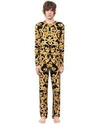 Versace - Baroque Printed Viscose Pyjamas - Lyst