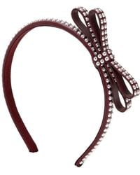RED Valentino - Studded Leather Headband With Bow - Lyst