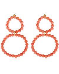 Saskia Diez - Holiday Coral Earrings - Lyst