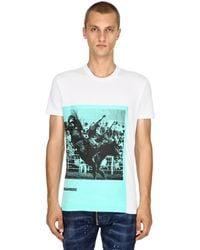 DSquared² T-Shirt En Coton De Jersey Imprimé Rodeo - Blanc