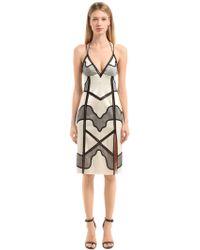 La Perla - Silk Satin & Lace Slip Dress - Lyst