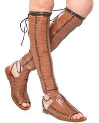 Daniele Michetti - Laser-cut Leather Gladiator Sandals - Lyst