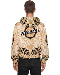 Versace - Tech Hibiscus Heritage Hooded Jacket - Lyst