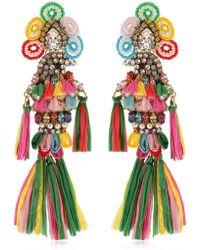 Shourouk - Parrots Multi Clip-on Earrings - Lyst