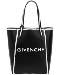 Givenchy - Neo Stargate Printed Logo Leather Tote - Lyst