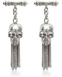 Alexander McQueen - Skull Brass Chained Cufflinks - Lyst