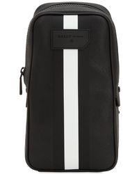 Bally - Striped Faux Leather Crossbody Bag - Lyst