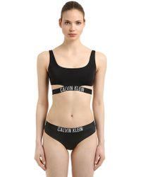 Calvin Klein - Logo Band Bralette Bikini Top - Lyst