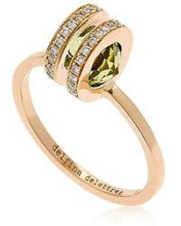 Delfina Delettrez | Seal Double Gold Peridot Ring | Lyst