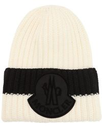 7a8ba8d920a Lyst - Moncler Cable Knit Beanie in Blue for Men