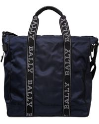 Bally - Nylon Tote Bag W/ Logo Bands - Lyst