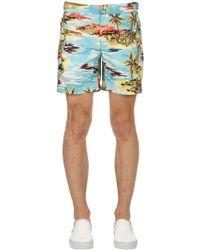 COACH - Bañador Shorts Estilo Western Estampado Hawaiano - Lyst