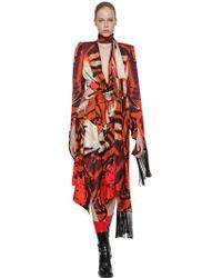 Alexander McQueen - Tiger Wing Butterfly Printed Silk Dress - Lyst