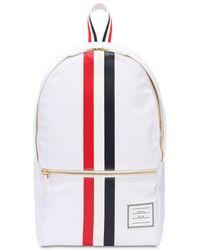 Thom Browne - Nylon Backpack W/ Printed Rubber Stripes - Lyst