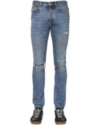 Givenchy - 18cm Slim Fit Destroyed Denim Jeans - Lyst