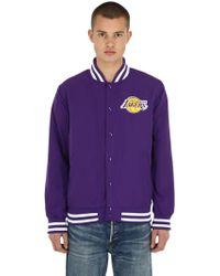 KTZ - Nba L.a Lakers Jacket In Purple - Lyst