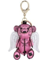 MCM - Bear & Wings Faux Leather Bag Charm - Lyst