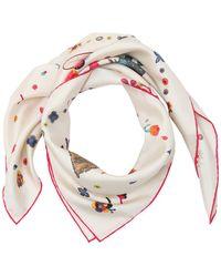 Ferragamo - Dogs Printed Silk Twill Scarf - Lyst