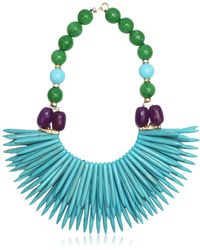 Katerina Psoma - Nuwa Fringed Beaded Necklace - Lyst
