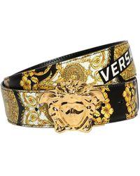 "Versace - Cintura ""baroque"" In Pelle - Lyst"