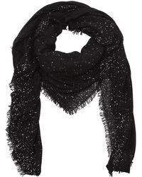 Faliero Sarti - Domenica Sequined Wool Blend Scarf - Lyst