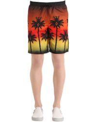Marcelo Burlon | Red Palm Printed Swim Shorts | Lyst