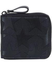 Valentino - Camustars Leather & Canvas Zip Wallet - Lyst