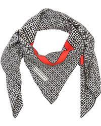 Givenchy - Check Print Satin Foulard - Lyst