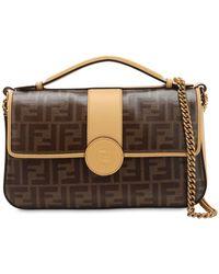 b6534bc525fa Fendi - Double Ff Baguette Leather Shoulder Bag - Lyst