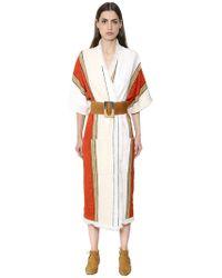 Nehera - Fringed Cotton Blend Tweed Coat - Lyst