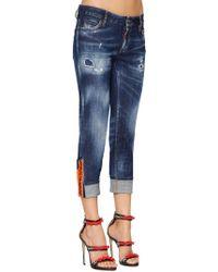 DSquared² - Superenge Jeans Aus Baumwolldenim - Lyst