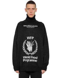 Balenciaga World Food Program Wool Jumper