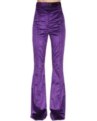 Nina Ricci - High Waisted Flared Corduroy Pants - Lyst