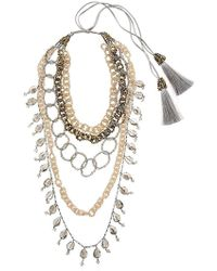 Night Market - Dropped Multi Chain Beaded Necklace - Lyst