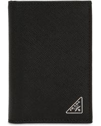 Prada - Saffiano Leather Folded Card Holder - Lyst