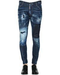 DSquared² - 16cm Skater Destroyed Denim Jeans - Lyst
