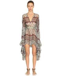 Giambattista Valli - Printed Silk Georgette Dress - Lyst