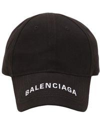 Balenciaga - Logo Embroidered Gabardine Baseball Hat - Lyst 520ac7eac75