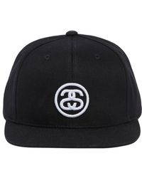 Stussy - Ss Link Logo Sp18 Cotton Baseball Hat - Lyst