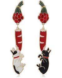 CORDIEN - French Bulldog Earrings - Lyst