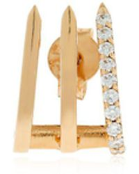Jezebel London 14kt Rose Gold & Diamond Split Soho Earring LyOIPZ