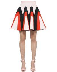 Delpozo - Linen Gabardine Godet Skirt - Lyst