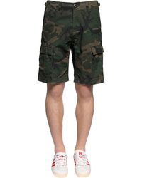 Carhartt - Shorts In Cotone Camouflage - Lyst