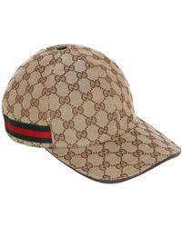"""Gucci - Cappello Baseball """"gg Supreme"""" In Tela - Lyst"""